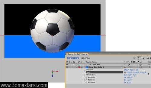 آموزش 3D Layer- Move Solid - After Effects
