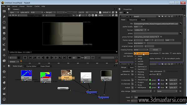 رندر داخلی After Effects 3ds Max