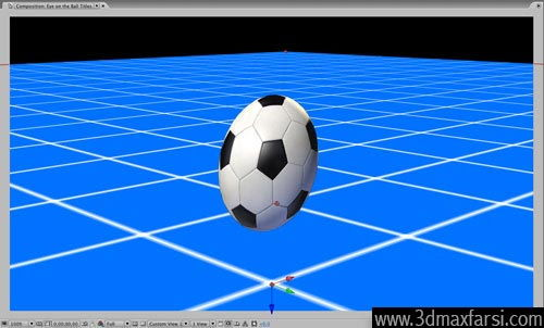 آموزش Add camera auto orient ball - After Effects