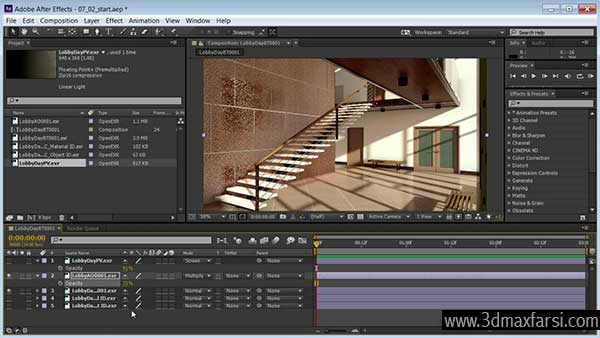 آموزش After Effects 3ds Max