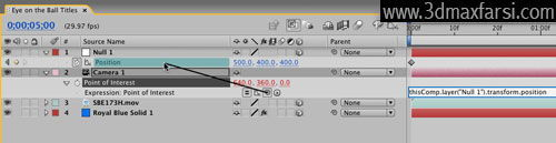 آموزش Expression camera pol - After Effects