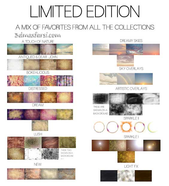 Limited edition Overlays textures فتوشاپ