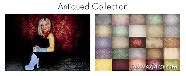 Antiqued collection Overlays textures فتوشاپ افکت زیبا