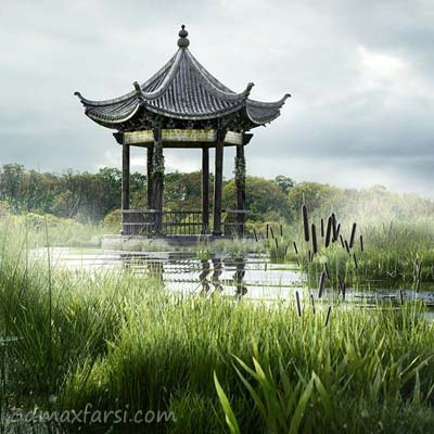 دانلود آموزش Creating a Swampy Landscape Using V-Ray Scatter in Maya