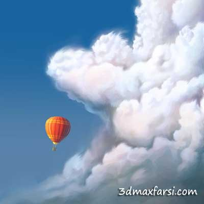 دانلود آموزش Drawing and Painting Clouds for Digital Illustration