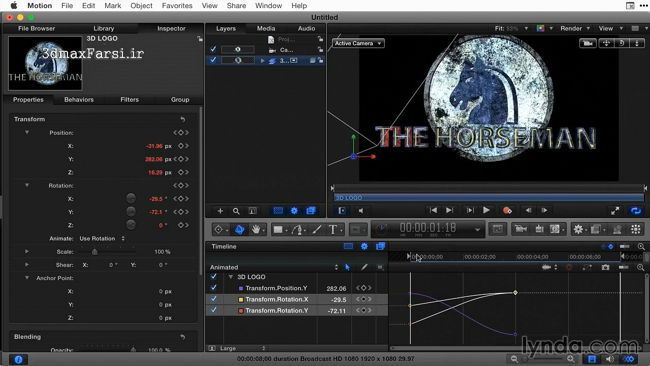 آموزش فارسی Final Cut Pro X Guru Titles and Effects