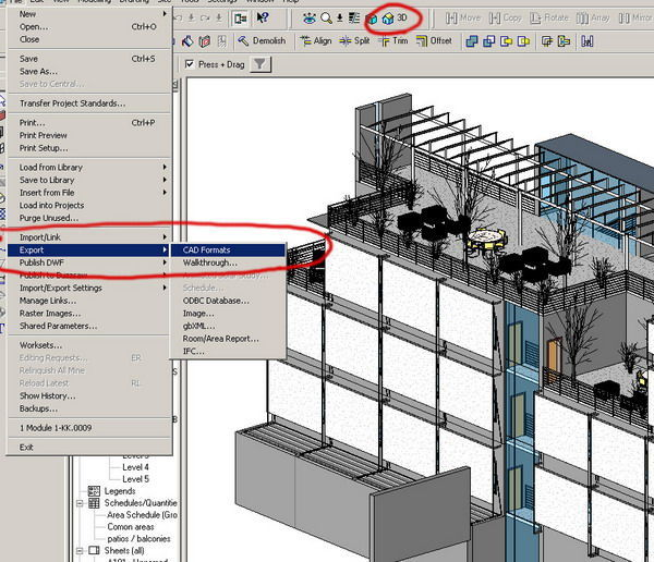 import to Revit Architecture