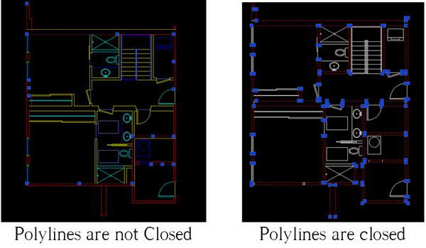 Thickness Polyline options ضخامت
