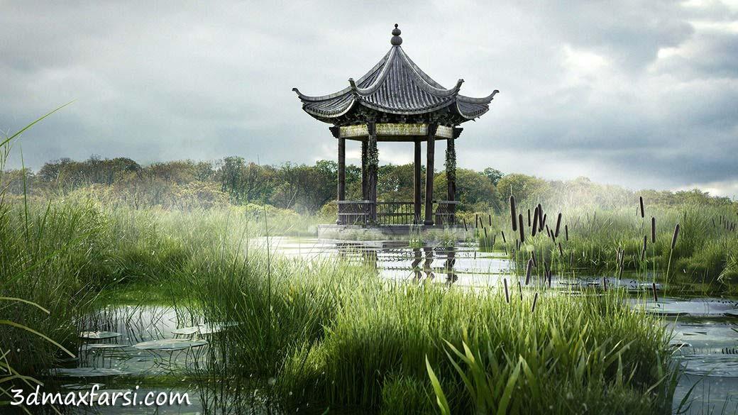 Digital Tutors - Creating a Swampy Landscape Using V-Ray Scatter in Maya