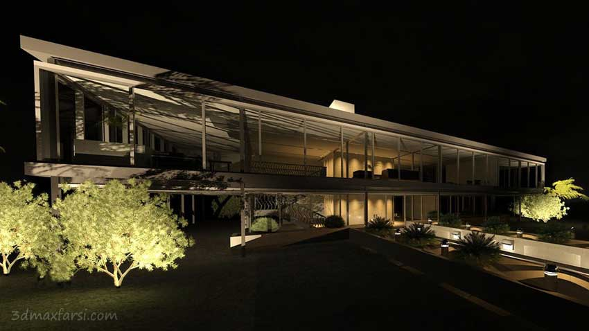 Digital Tutors - Using Exterior Lighting to Create a Night Scene Rendering in Revit