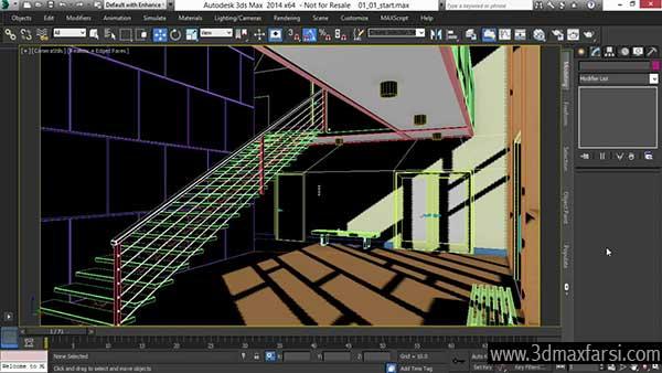 نورپردازی داخلی تری دی مکس Rendering 3ds Max
