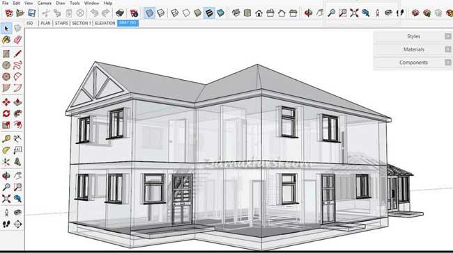 آموزش رندر، مدلسازی معماری اسکچ آپ SketchUp