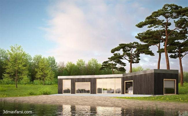 معماری vray رندر 4 فصل