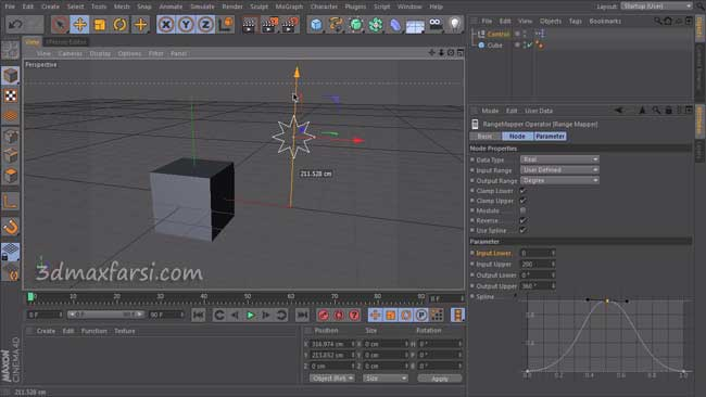 آموزش فارسی CINEMA 4D Expression System, XPresso