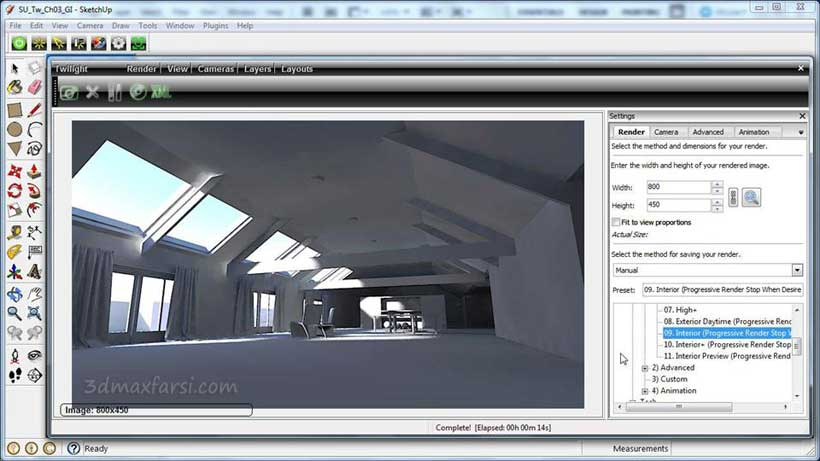 SketchUp Rendering Using Twilight