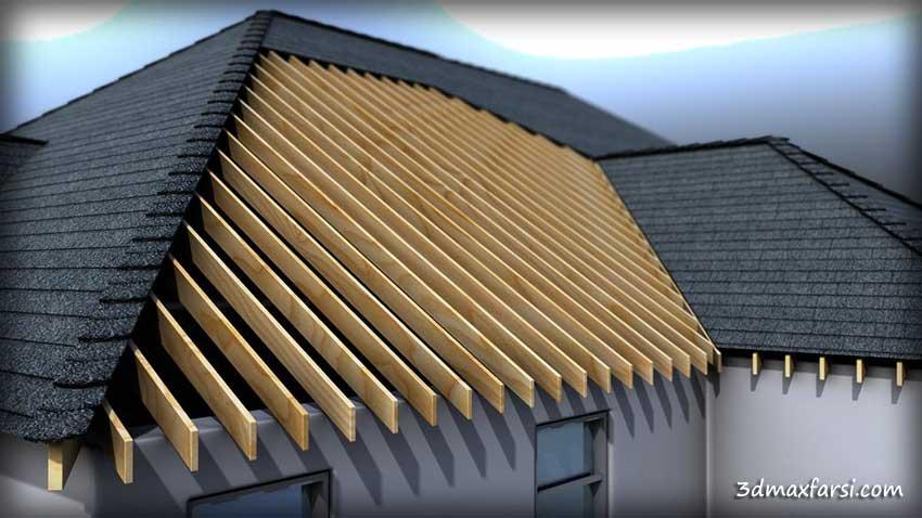 آموزش طراحی سقف شیبدار در رویت : مدلسازی سازه ترسیم و کشیدن سقف Modeling Roof Formations, Structures and Materials in Revit