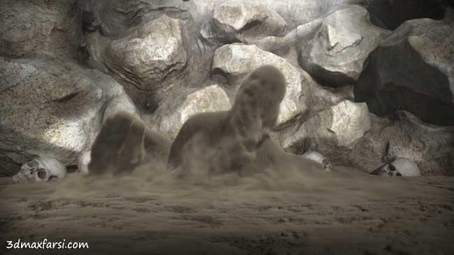 آموزش انیمیشن شبیه سازی افکت شن ماسه مایا افترافکت