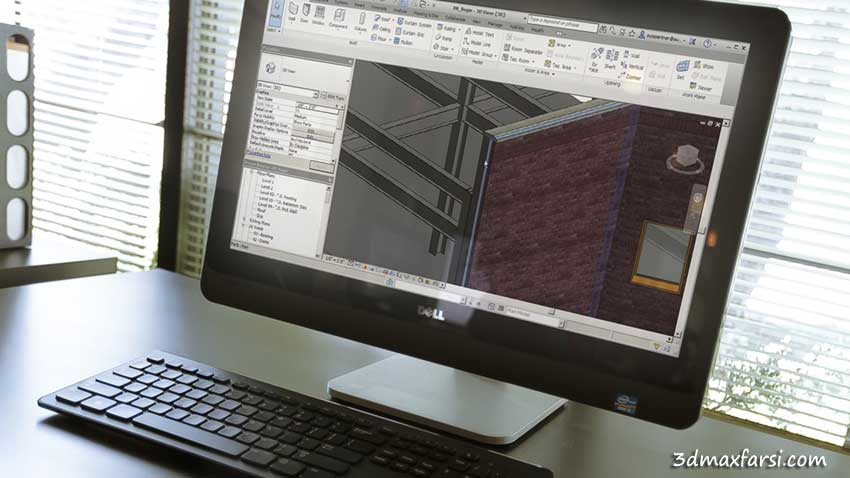 آموزش Working in the Construction Template in Revit