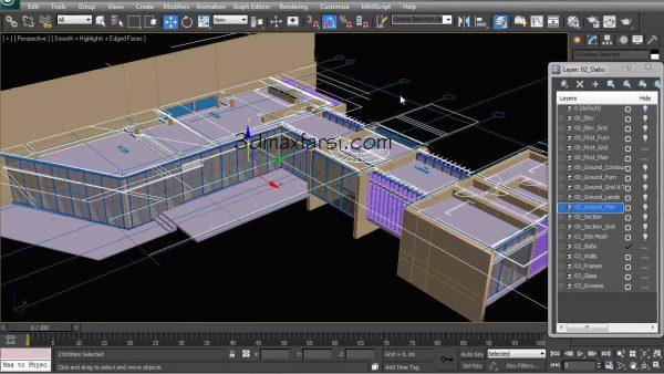 خرید آموزش مدلسازی رندر 3dmax معماری