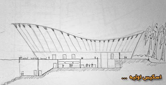 طراحی پوستر معماری - اسکیس