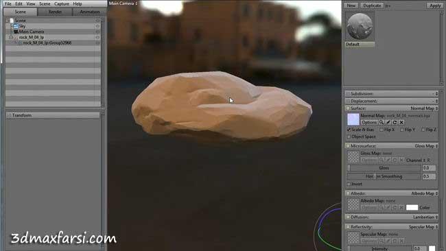 مدلسازی ساخت کوه صخره دره بازی کامپیوتری