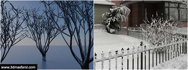 ساخت برف تری دی مکس- ویری