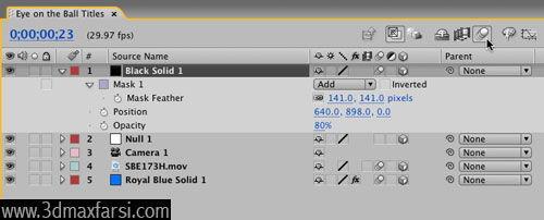 آموزش Adjust settings Add motion blur - After Effects