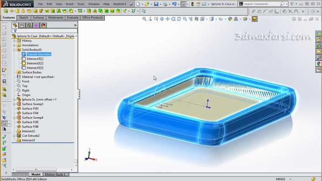 آموزش تصویری مدلسازی سالیدورکس Solidworks