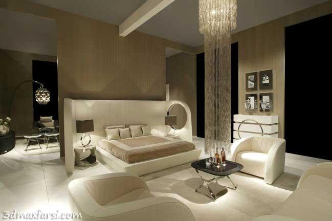دانلود رایگان نمونه رندر دکوراسیون داخلی خواب سرویس - Bed room