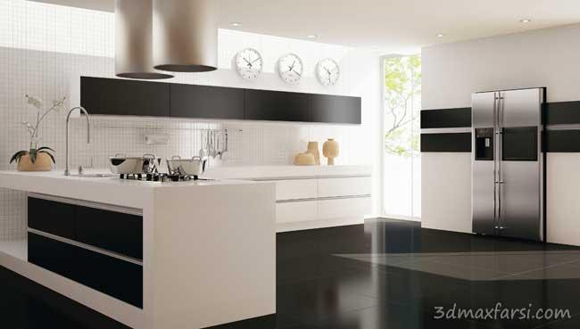 دانلود رایگان نمونه رندر دکوراسیون داخلی خواب آشپزخانه - Kitchen