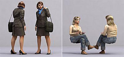 3D Human Airport آبجکت انسان تری دی مکس