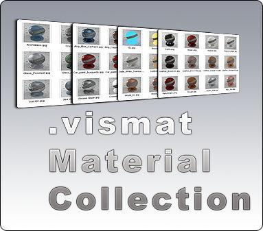 vismat material collection متریال تری دی مکس وی ری Vray Material