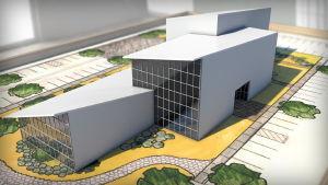آموزش طراحی نمای ساختمان با رویت : مدلسازی سه بعدی + ساخت متریال
