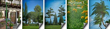 دانلود پلاگین ساخت جنگل چمن Forest Pack pro 5.2 HD Flowers 3 HQ Plants 1 HQ Grass 1-HQ Palms