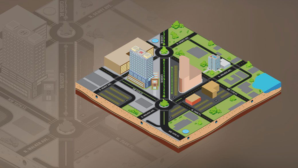 دانلود آموزش Creating 3D Maps Using Isometric Projection in Illustrator