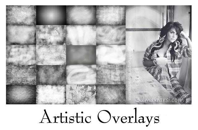 Artistic OverLay Overlays textures سیاه سفید هنری