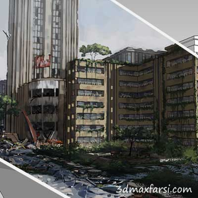دانلود Enhancing Environment Concepts with 3D Paint-Overs