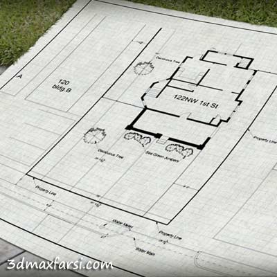 Drawing a Site Plan in AutoCAD آموزش فارسی سایت پلان اتوکد
