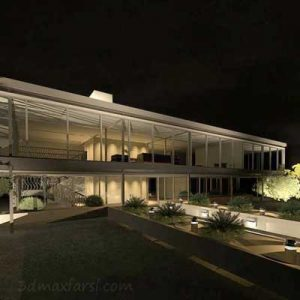 دانلود فارسی Using Exterior Lighting to Create a Night Scene Rendering in Revit