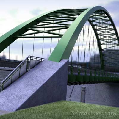دانلود Creating a Parametric Suspension Bridge Concept Model in Revit