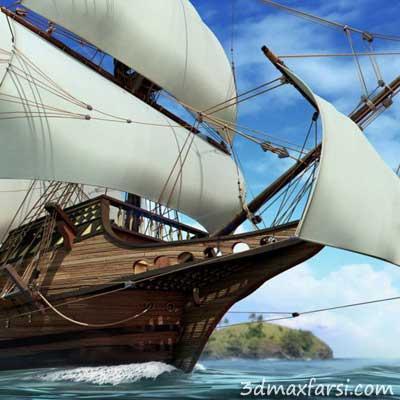 دانلود رایگان Modeling a Detailed Ship in Maya