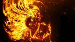 افکت آتش شعله عکس فتوشاپ