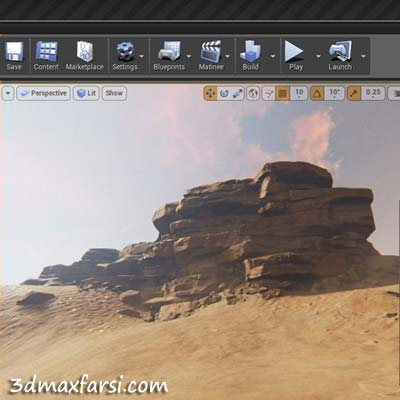 دانلود آموزش Creating Rock Structures for Games in ZBrush and Unreal Engine