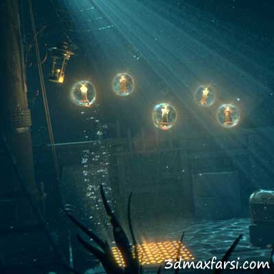 دانلود رایگان Creating Cinematic Underwater Lighting in Maya