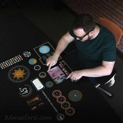 دانلود آموزش Animating and Compositing Futuristic Menus After Effects