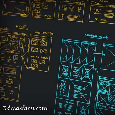 دانلود آموزش User Experience Flow Modeling for Portfolio Websites Photoshop