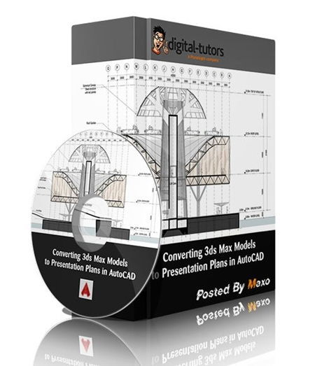 خروجی 2 بعدی دانلود رایگان آموزش Converting 3ds Max Models to Presentation Plans in AutoCAD
