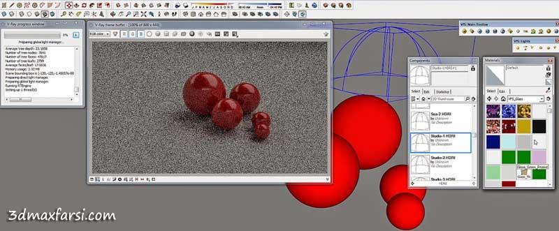 ابزار های رندر ویری اسکچاپ Express Tools SketchUp