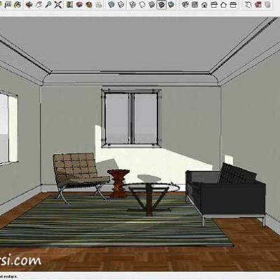 آموزش مدلسازی معماری و رندر داخلی اسکچاپ SketchUp