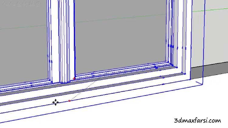 مدلسازی پنجره رندر داخلی اسکچاپ